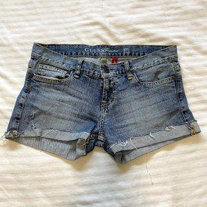 Guess Foxy Cuffed Hem Denim Shorts, Light Blue -28